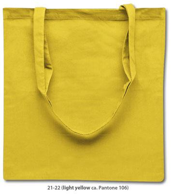 Baumwolltaschen, lange Henkel, zitronen gelb