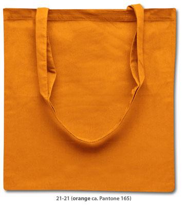 Baumwolltaschen, lange Henkel, orange