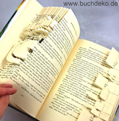 Buchdeko Origami Mit Büchern Hochzeit Geschenk
