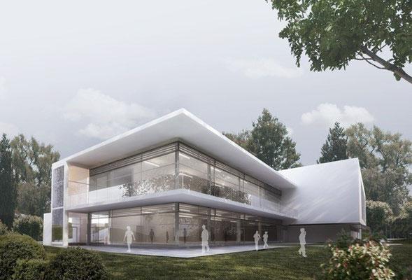Act - Wettbewerbsansicht - Neubau Ganztagesbetreuung/Mensa - Neresheim