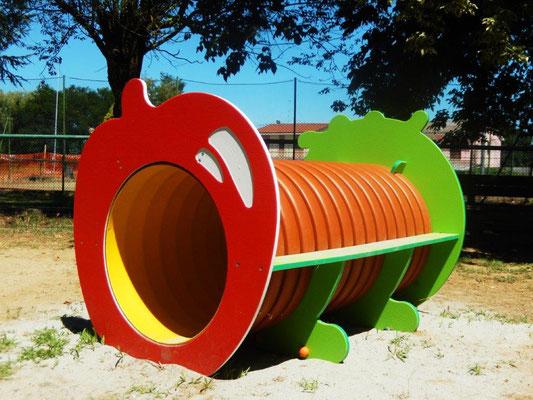 Tunnel Mangiamela Comune di Pieve del Cairo (Pavia) giochi per parco Stileurbano attrezzature per parco giochi