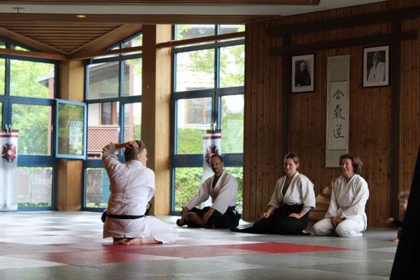 Aikido-Workshops gab es dieses Mal on Top