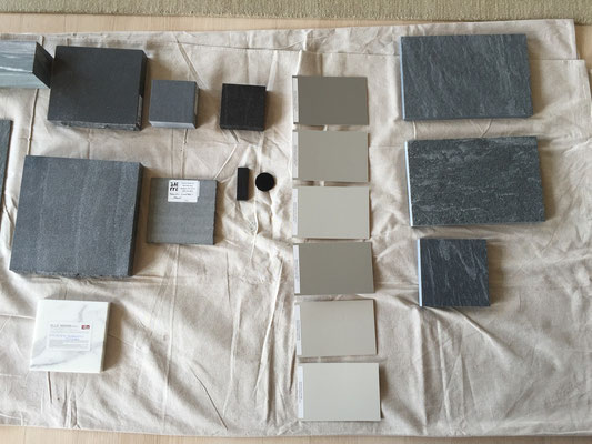 Materials palette. Eve Ashcraft