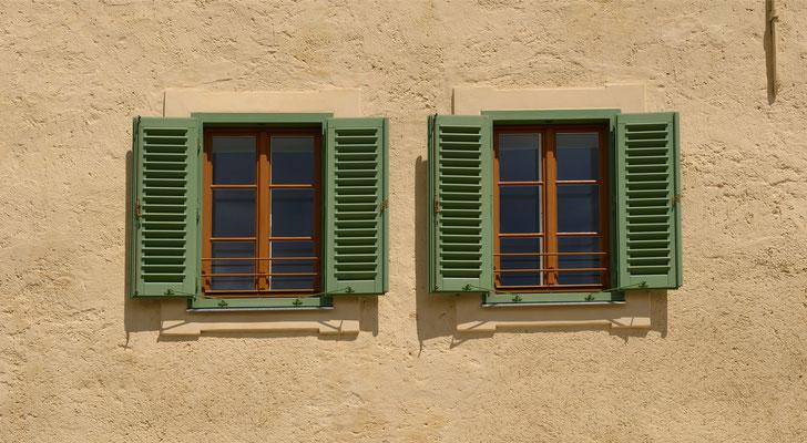 Kranz Fenster mit Läden