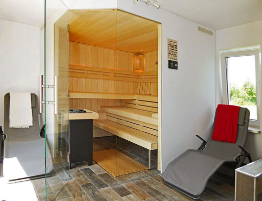 Die Sauna-Räumlichkeiten