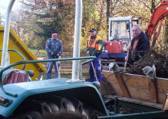 Buschwerk und Sträucher am Friedhof werden ausgedünnt.
