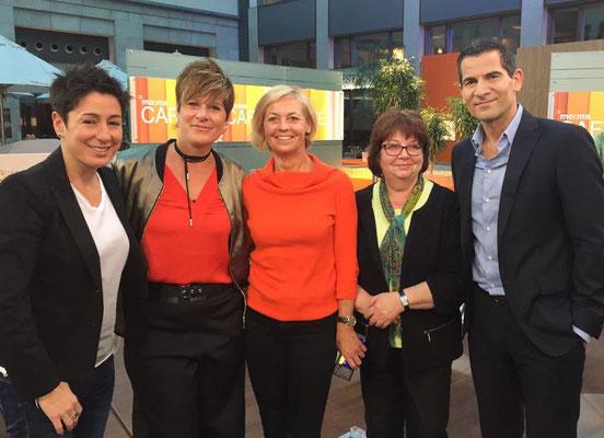 Im mo:ma café nach der ZDF-Morgenmagazin-Sendung mit Dunja Hayali.