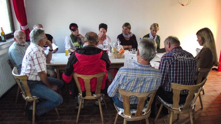 Besprechnung mit dem Team vom Bürger-Treff