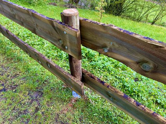 Zugangs-Abgrenzung am St. Hilarius-Friedhof