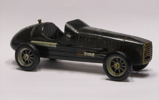 Houten racewagen.