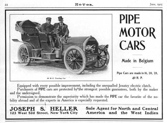 Amerikaanse advertentie voor Pipe uit 1905.