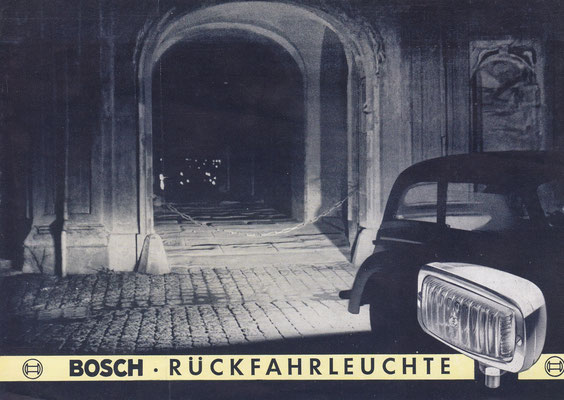 Folder Bosch achteruitrijlamp.