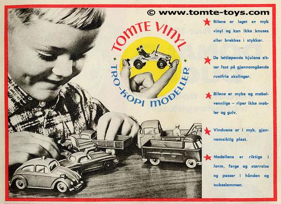 Een advertentie van Tomte uit 1963.