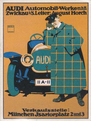 Affiche Audi uit 1910.