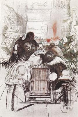 Kunstwerk van P. Annigoni uit 1960.