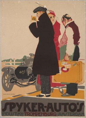 Poster van Piet van der Hem voor Spyker.