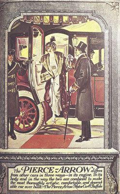 Een advertentie van Pierce-Arrow in Country Life uit 1912 door Frank X. Leyendecker.