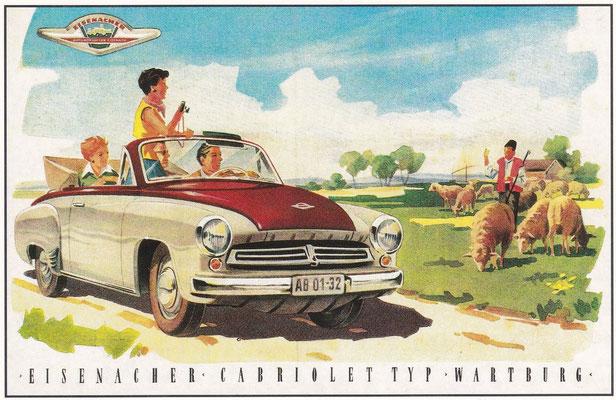 Reclame Wartburg Cabriolet.