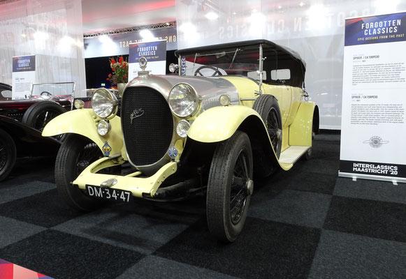 Spyker C4 Torpedo uit 1921. (Interclassics Maastricht 2020)