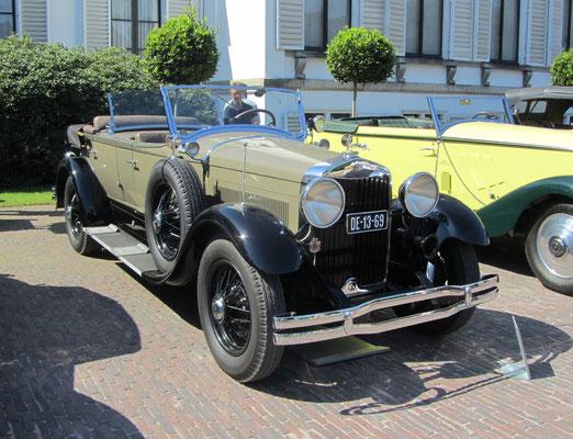 Lincoln Model L dual phaeton uit 1928 met een carrosserie van Schutter & van Bakel. (Concours d'Elegance Paleis Soestdijk 2019)