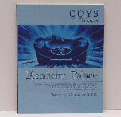Catalogus veiling van Coys in Blenheim Palace, Woodstock, Engeland, 2006.