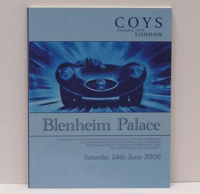 Veiling catalogus Coys London uit 2006, Blenheim Palace, Woodstock, England.