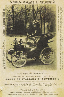 Een postkaart van Fiat uit 1899.