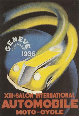 Affiche voor de Salon in 1936 in Genève.
