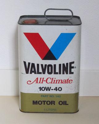 Olieblik Valvoline 5 liter.