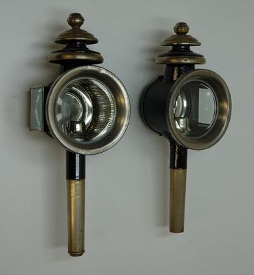 De eerste auto's waren uitgerust met dezelfde verlichting als koetsen hadden, zoals kaarslantaarns.