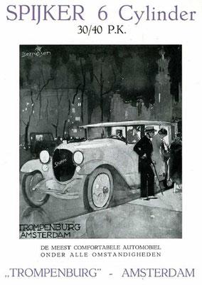 Een advertentie voor Spyker uit 1921.