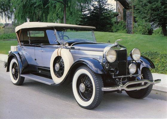 Een Lincoln model L Dual Cowl Pheaton uit 1929.