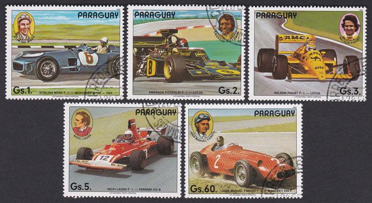 Postzegels Paraguay uit 1989.