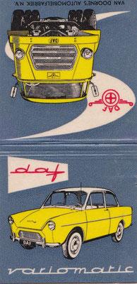 Afbreeklucifers met reclame voor Daf.