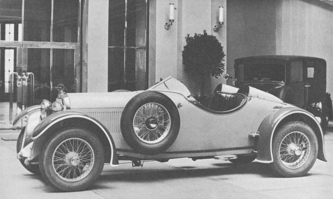 Austro-Daimler ADM Sportroadster met kort chassis.