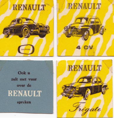 Afbreeklucifers met reclame voor Renault.