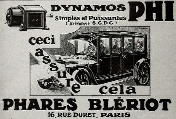 Advertentie Blériot, 1913
