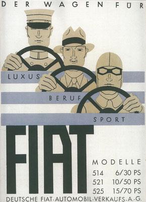 Een Duitse advertentie voor Fiat uit 1930.