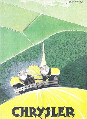Een affiche van Chrysler.