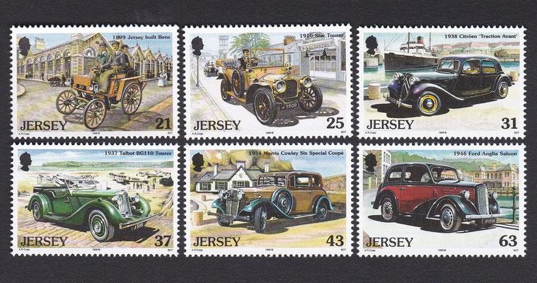 Postzegels Jersey uit 1999.