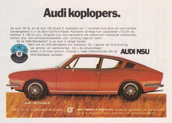 Advertentie Audi uit 1972.