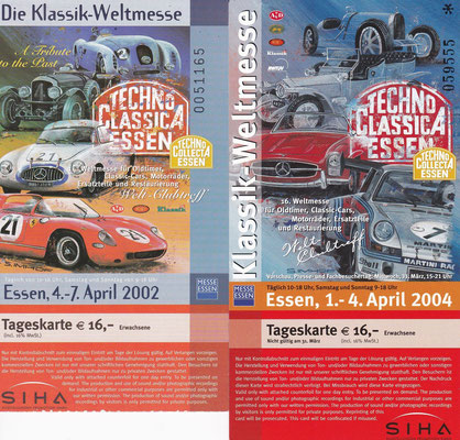 Techno Classica Essen 2002 en 2004.