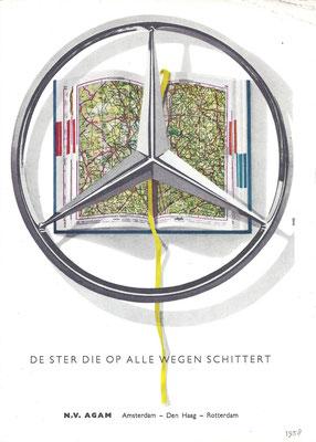 Advertentie van AGAM voor Mercedes-Benz uit 1958.