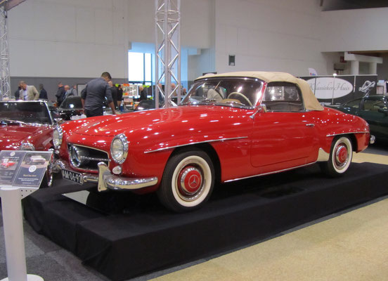 Mercedes-Benz 190 SL uit 1962. (Interclassics Brussels 2018)