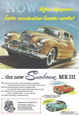Een advertentie voor de Sunbeam MK III.