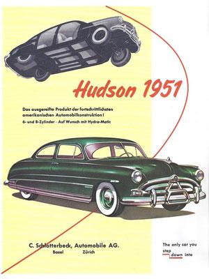 Zwitserse advertentie voor Hudson uit 1951.