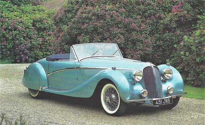 Delahaye 135 MS Convertible Coupé uit 1938.
