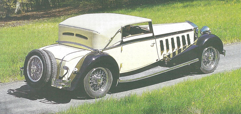 Een Isotta Fraschini 8A uit 1932 met een carrosserie van Ramseier uit Worblaufen in Zwitserland. De auto was 6 meter lang met slechts 2 zitplaatsen.