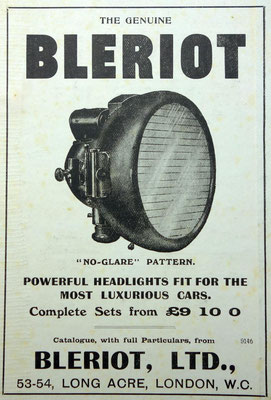 Advertentie Blériot, 1909