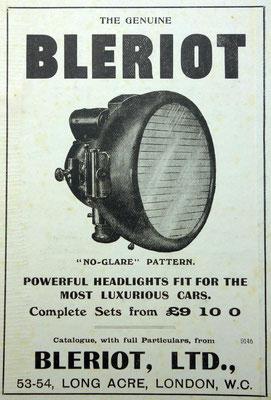 Advertentie Blériot, 1909